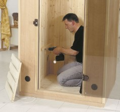 sauna bauen das projekt von hornbach. Black Bedroom Furniture Sets. Home Design Ideas