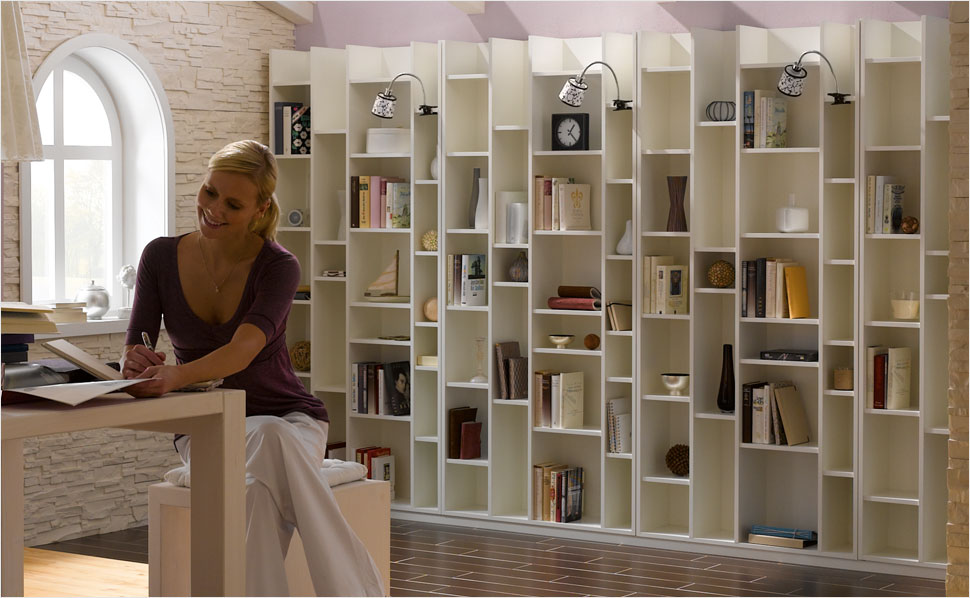 bibliothek bauen anleitung von hornbach. Black Bedroom Furniture Sets. Home Design Ideas