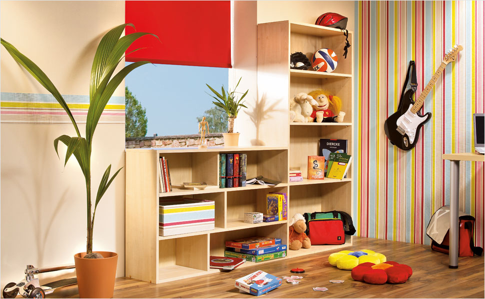 kinderzimmerregal selber bauen anleitung von hornbach. Black Bedroom Furniture Sets. Home Design Ideas