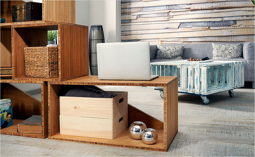 modulregal selber bauen anleitung von hornbach. Black Bedroom Furniture Sets. Home Design Ideas