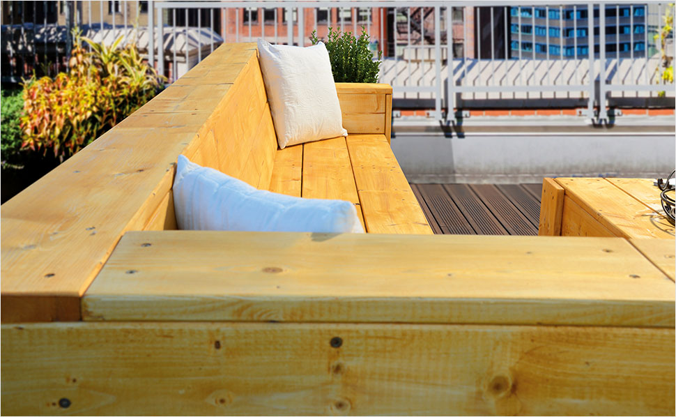 terrasse aus holz bauanleitung u003e hochbeet. Black Bedroom Furniture Sets. Home Design Ideas