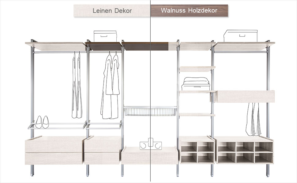 begehbarer kleiderschrank systeme alu mobile systeme. Black Bedroom Furniture Sets. Home Design Ideas