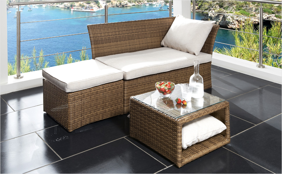 rattan gartenm bel. Black Bedroom Furniture Sets. Home Design Ideas