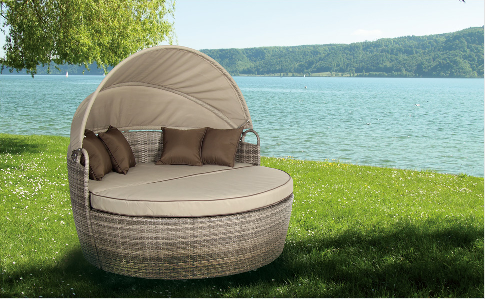 gartenm bel aus polyrattan von hornbach. Black Bedroom Furniture Sets. Home Design Ideas