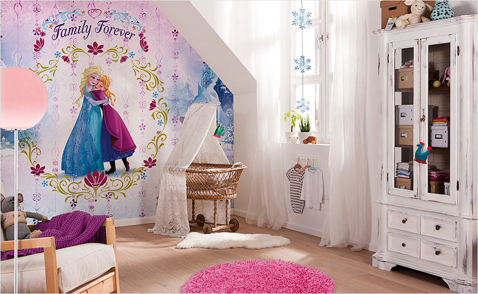 frozen die eisk nigin kinderzimmer bei hornbach. Black Bedroom Furniture Sets. Home Design Ideas