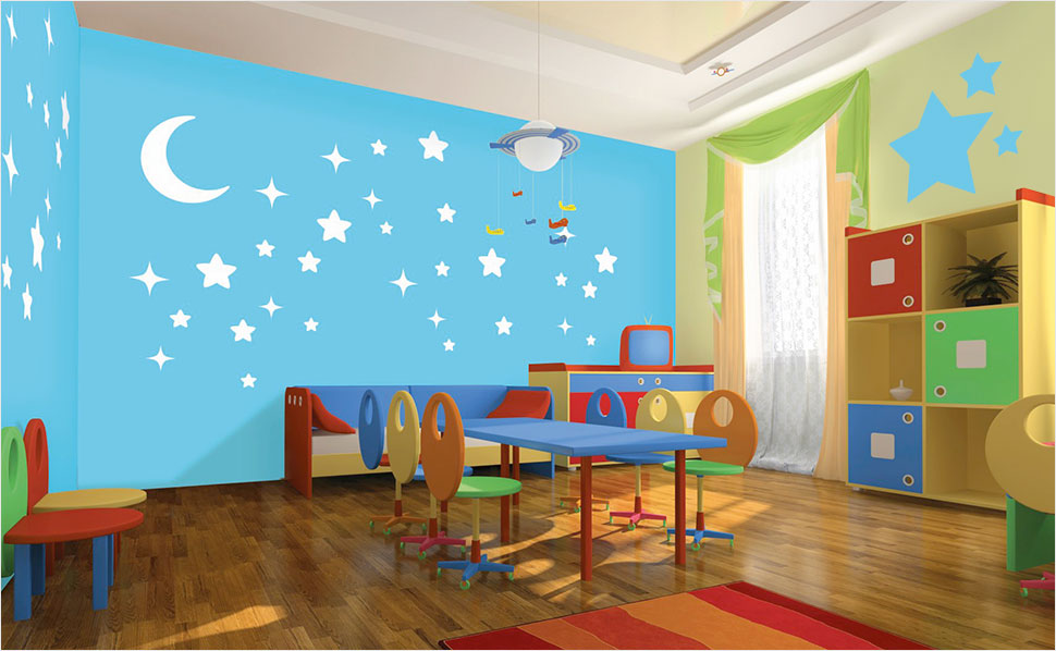 kinderzimmer hubsch mit tapeten gestalten beste inspiration f r ihr interior design und m bel. Black Bedroom Furniture Sets. Home Design Ideas