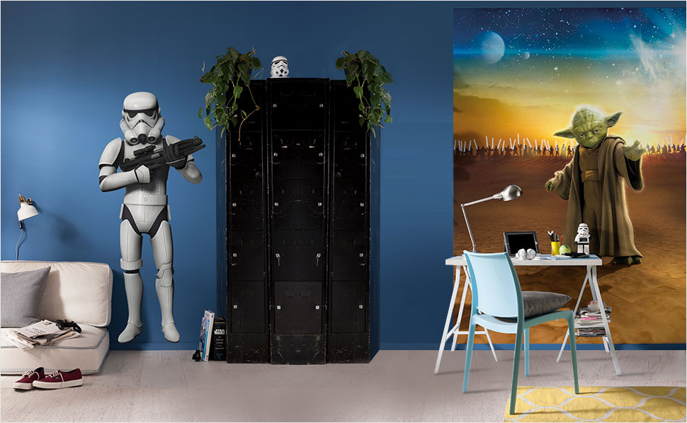 Starwars kinderzimmer bei hornbach for Star wars tapete kinderzimmer