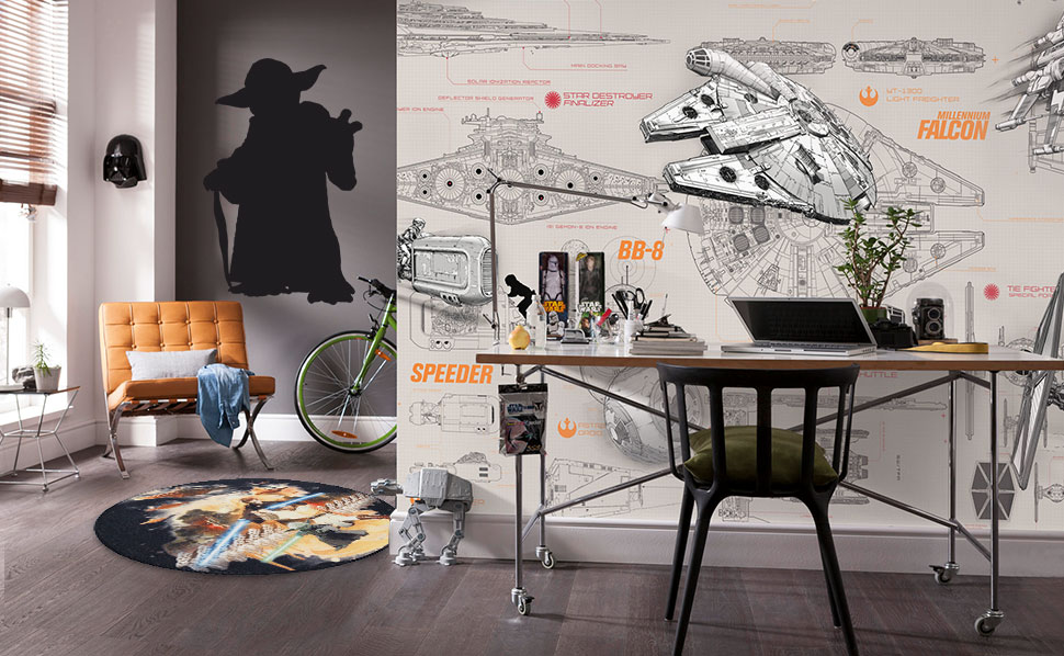 starwars kinderzimmer bei hornbach. Black Bedroom Furniture Sets. Home Design Ideas