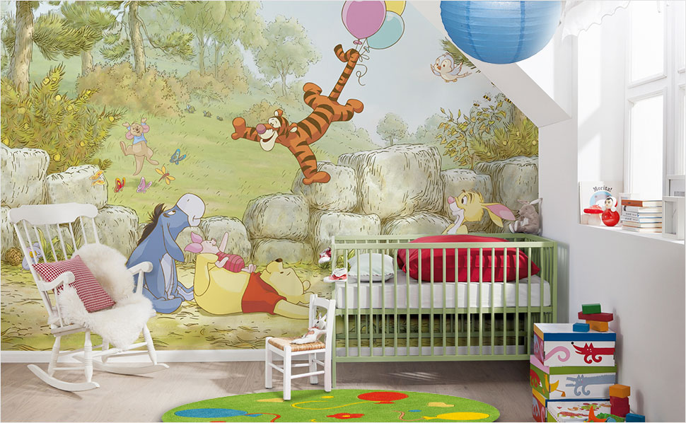 babyzimmer wandgestaltung winnie pooh. Black Bedroom Furniture Sets. Home Design Ideas
