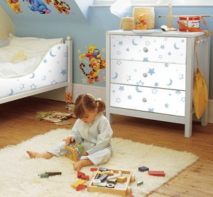 winni pooh kinderzimmer bei hornbach. Black Bedroom Furniture Sets. Home Design Ideas