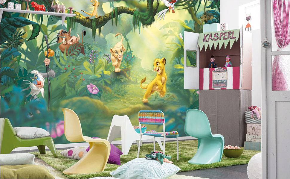 Tapeten f rs kinderzimmer bei hornbach - Bucherregal kinderzimmer wand ...