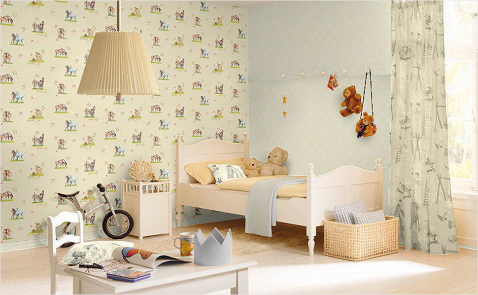 tapeten f rs kinderzimmer bei hornbach. Black Bedroom Furniture Sets. Home Design Ideas