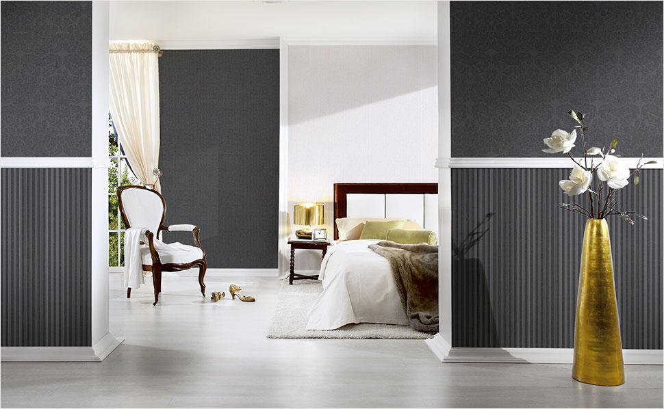 schlafzimmer tapete grau sm53 hitoiro. Black Bedroom Furniture Sets. Home Design Ideas