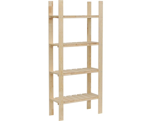 hornbach holzregal holzregal kiefer 1600x700x310 mm 4 b den bei hornbach kaufen. Black Bedroom Furniture Sets. Home Design Ideas