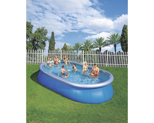 Fast set pool ovalbecken 549 x 366 cm h he 122 cm for Hornbach pool set