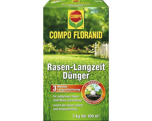 rasen langzeitd nger compo floranid 3 kg bei hornbach kaufen. Black Bedroom Furniture Sets. Home Design Ideas