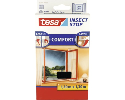 fliegengitter f r fenster tesa insect stop comfort anthrazit 130x150 cm bei hornbach kaufen. Black Bedroom Furniture Sets. Home Design Ideas