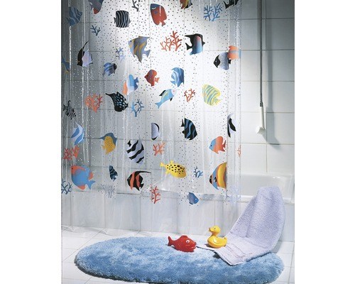 duschvorhang spirella fish bei hornbach kaufen. Black Bedroom Furniture Sets. Home Design Ideas