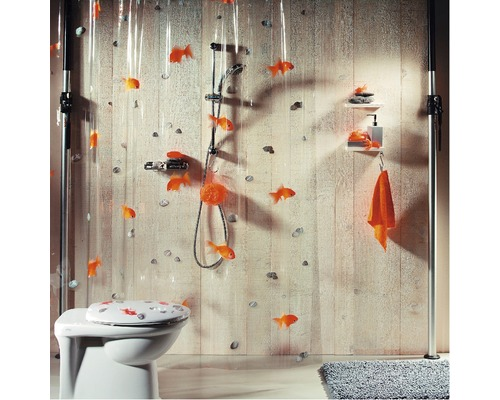 duschvorhang spirella goldfish bei hornbach kaufen. Black Bedroom Furniture Sets. Home Design Ideas