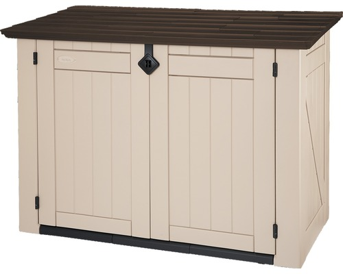 Garten-Gerätebox Store-it-out, 90 x 160 x 119 cm, beige-braun