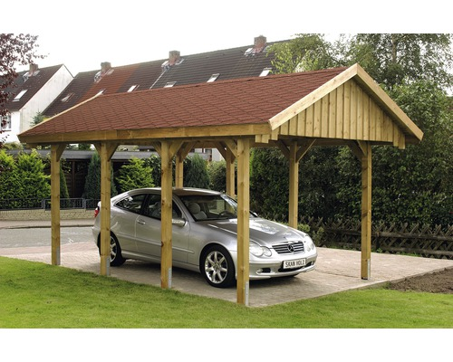 einzelcarport skan holz sauerland satteldach 380x600 cm tauchimpr gniert bei hornbach kaufen. Black Bedroom Furniture Sets. Home Design Ideas