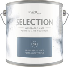 Premium Wandfarbe StyleColor SELECTION Farbton 09 Norwegens Fjorde 2,5 l