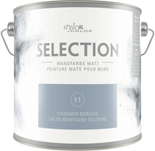 Premium Wandfarbe StyleColor SELECTION Farbton 11 Einsamer Bergsee 2,5 l