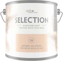 Premium Wandfarbe StyleColor SELECTION Farbton 26 Abendrot des Südens 2,5 l
