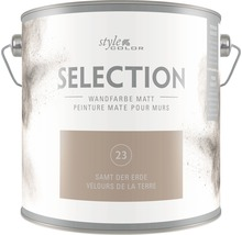 Premium Wandfarbe StyleColor SELECTION Farbton 23 Samt der Erde 2,5 l