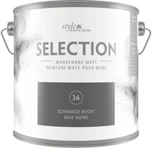 Premium Wandfarbe StyleColor SELECTION Farbton 36 Schwarze Bucht 2,5 l