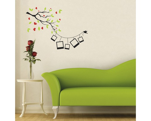 wandtattoo ast mit foto 30 x 40 cm bei hornbach kaufen. Black Bedroom Furniture Sets. Home Design Ideas
