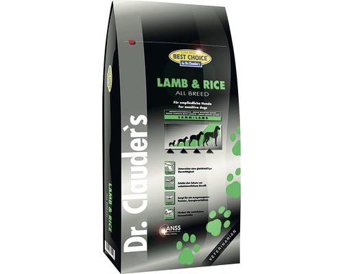 hundefutter trocken dr clauders best choice lamb rice. Black Bedroom Furniture Sets. Home Design Ideas