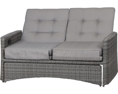 loungesofa portomove siena garden polyrattan 2 sitzer grau bei hornbach kaufen. Black Bedroom Furniture Sets. Home Design Ideas
