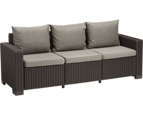 loungesofa california kunststoff 3 sitzer braun bei hornbach kaufen. Black Bedroom Furniture Sets. Home Design Ideas