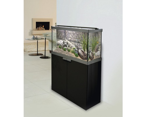 aquariumkombination fluval studio 900 mit led beleuchtung filter heizer und unterschrank. Black Bedroom Furniture Sets. Home Design Ideas