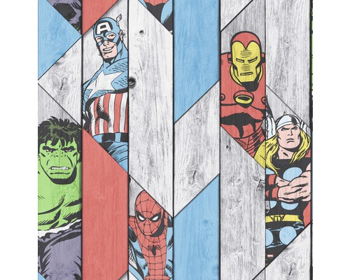 Papiertapete  Kids Home  Marvel Holz