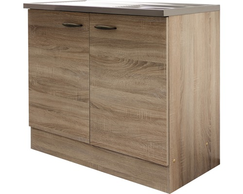 sp lenunterschrank oslo breite 100 cm sonoma eiche bei hornbach kaufen. Black Bedroom Furniture Sets. Home Design Ideas