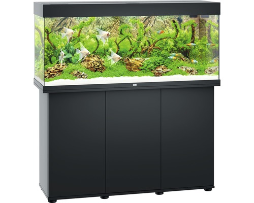 aquariumkombination juwel rio 240 sbx mit led beleuchtung heizer filter und unterschrank. Black Bedroom Furniture Sets. Home Design Ideas