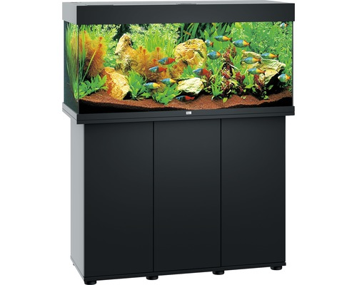 aquariumkombination juwel rio 180 sbx mit led beleuchtung heizer filter und unterschrank. Black Bedroom Furniture Sets. Home Design Ideas