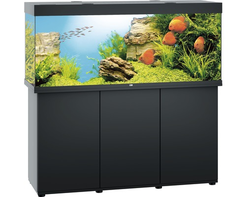 aquariumkombination juwel rio 450 sbx mit led beleuchtung heizer filter und unterschrank. Black Bedroom Furniture Sets. Home Design Ideas