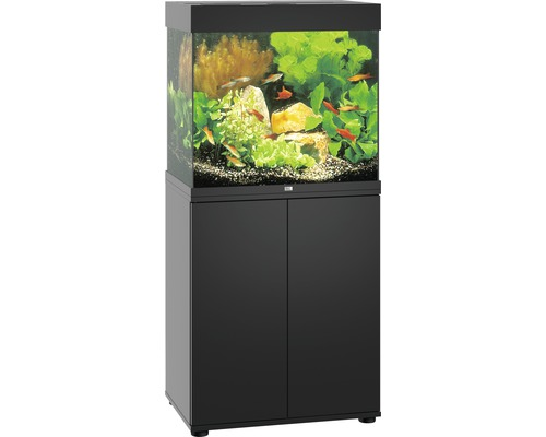 aquariumkombination juwel lido 120 sbx mit led beleuchtung heizer filter und unterschrank. Black Bedroom Furniture Sets. Home Design Ideas