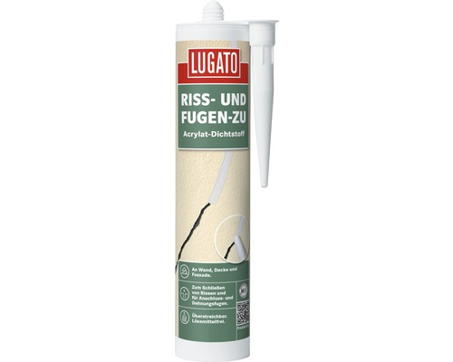 acryl lugato riss und fugen zu weiss 310 ml bei hornbach. Black Bedroom Furniture Sets. Home Design Ideas