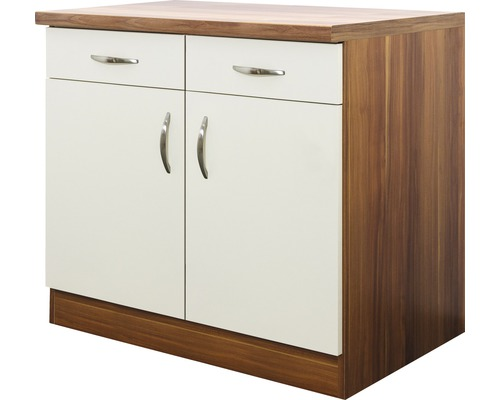 unterschrank sienna breite 100 cm creme bei hornbach kaufen. Black Bedroom Furniture Sets. Home Design Ideas