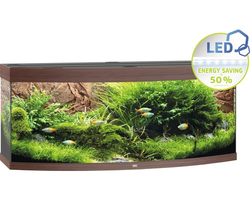 aquarium juwel vision 450 mit led beleuchtung heizer filter ohne unterschrank dunkles holz bei. Black Bedroom Furniture Sets. Home Design Ideas