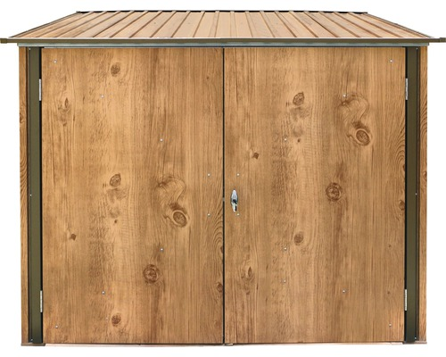 gartenschrank fahrradgarage 191 6x202 1x162 5 cm holz dekor eiche bei hornbach kaufen. Black Bedroom Furniture Sets. Home Design Ideas