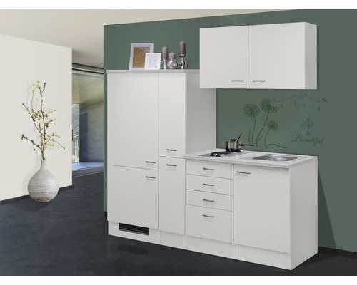 k chenzeile wito 190 cm wei bei hornbach kaufen. Black Bedroom Furniture Sets. Home Design Ideas