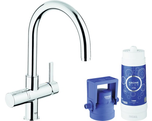 grohe blue pure c auslauf starter kit 33249dc1 preisvergleich. Black Bedroom Furniture Sets. Home Design Ideas