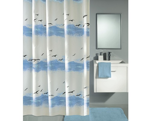 duschvorhang kleine wolke seaside blau 180x200 cm bei hornbach kaufen. Black Bedroom Furniture Sets. Home Design Ideas