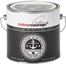 Wandfarbe colourcourage Black Board 2,5 l