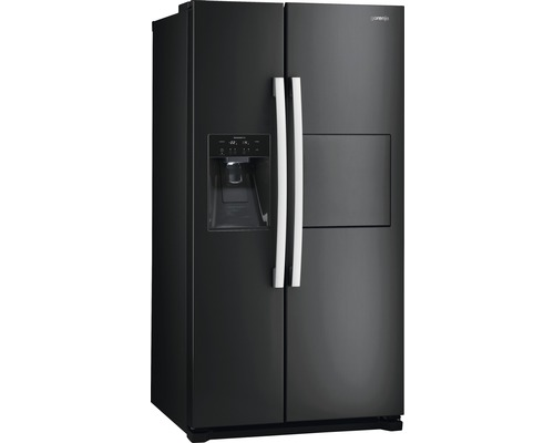 side by side k hlschrank gorenje nrs 9182 cbbk schwarz bei hornbach kaufen. Black Bedroom Furniture Sets. Home Design Ideas